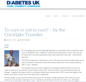DiabetesUK - To Cure or not to Cure