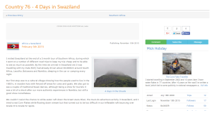 Swaziland - Travel Blog Screen Shot